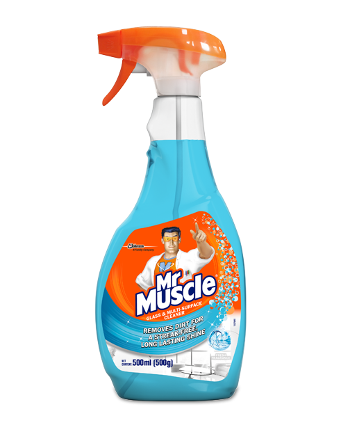 mrmuscle glass multisurface cleaner